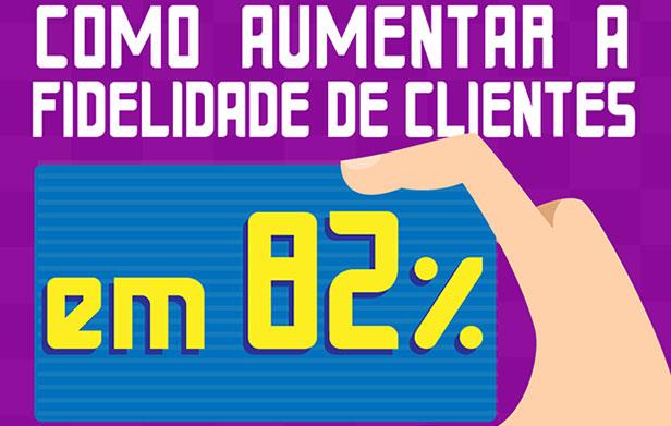 Infográfico sobre como aumentar a fidelidade de seus clientes em 82%